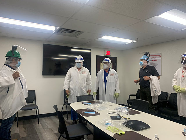President Domingo Garcia inspecting JBS USA Food Company plant in Greely, Colorado.