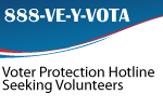 Become a volunteer at a voter protection hotline