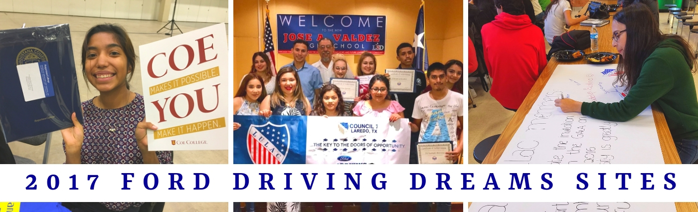 2017 Ford Driving Dreams Grants Program Awardees